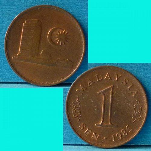 Malaysia 1 Cent 1985 km 1a