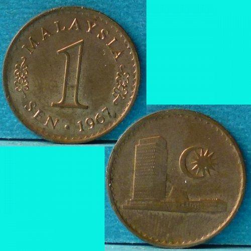 Malaysia 1 Cent 1967 km 1