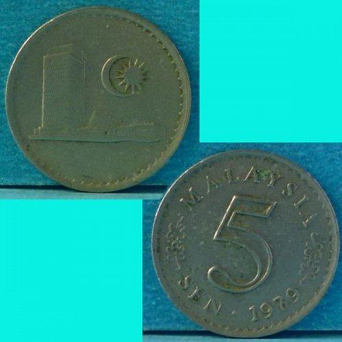 Malaysia 5 Cents 1979 km 2