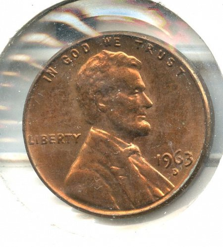 1963 D/D Lincoln Memorial Cent Denver