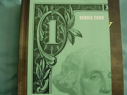 2009 Uncut sheet of 4 one Dollar bills, Un-circulated  Crisp