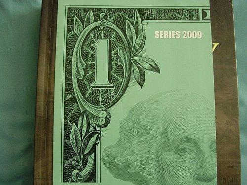 2009 Uncut sheet of 4 one Dollar bills, Un-circulated  Crisp