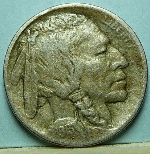 1913-D Type One Buffalo Nickel in Extra Fine Condition Rare Key Coin