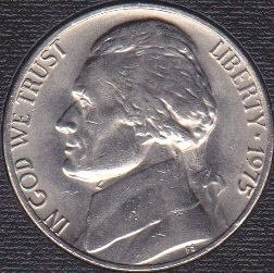 1975 P Jefferson Nickel