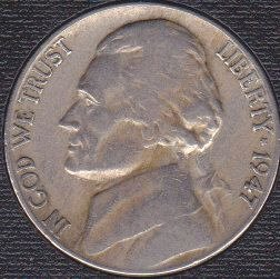 1947 P Jefferson Nickel