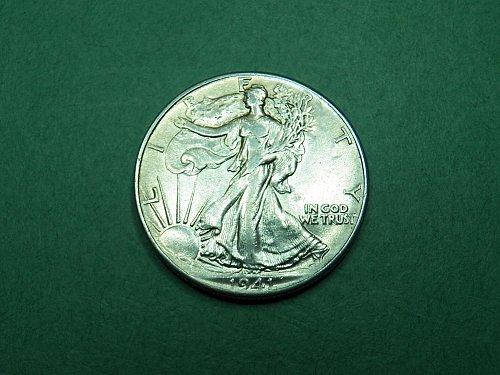1941 P Walking Liberty Half Dollar Almost Uncirculated Coin   h62