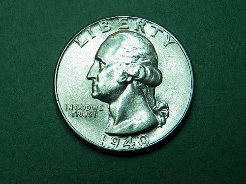 1940 P Washington Quarter Gem Uncirculated Coin   h73