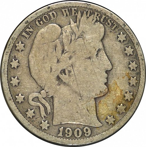 1909 S Barber Half Dollar, (Item 322)
