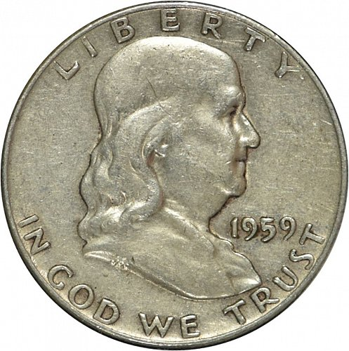 1959 D Franklin Half Dollar, (Item 321)