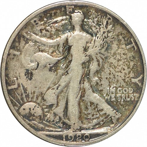 1920 Walking Liberty Half Dollar, (Item 324)