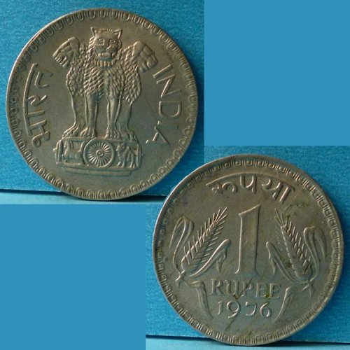 India 1 Rupee 1976 km 78.1