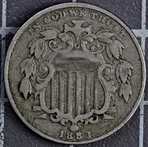 1883 shield nickel