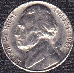 1961 P Jefferson Nickel