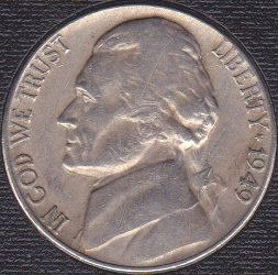 1949 P Jefferson Nickel
