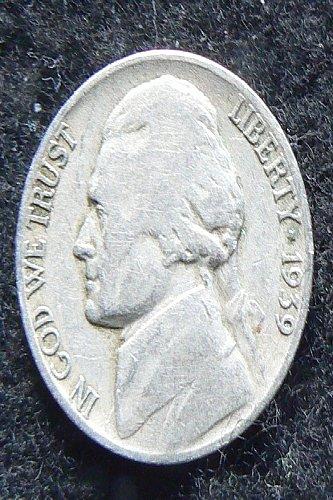 1939 D Jefferson Nickel (F-12)
