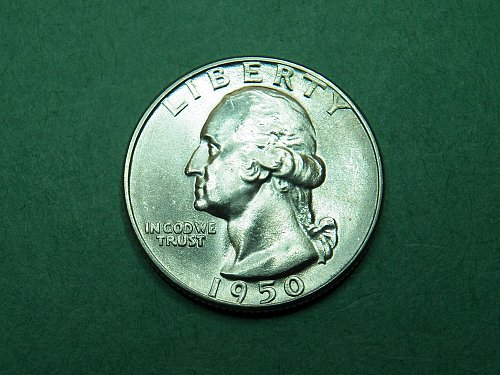 1950 P Washington Quarter Gem Uncirculated Coin   h95