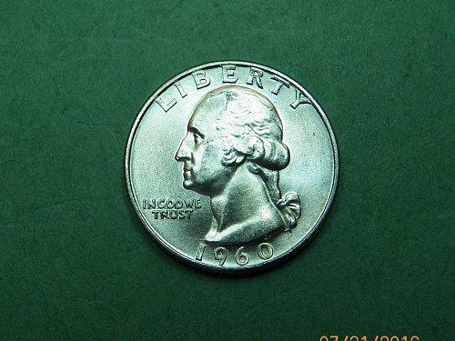 1960 D Washing Quarter Gem Uncirculated Coin   h34