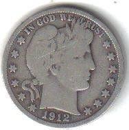 1912 P  BARBER HALF DOLLAR