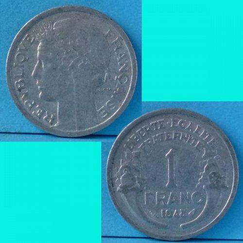 France 1 Franc 1948 km 885a.1