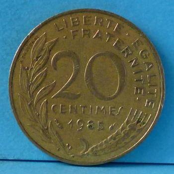 France 20 Centimes 1985 km 930