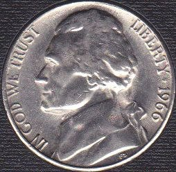 1966 P Jefferson Nickel