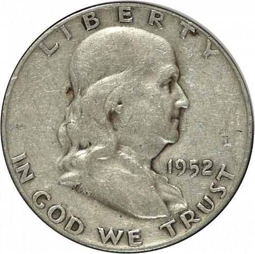 1952 D Franklin Half Dollar, (Item 325)