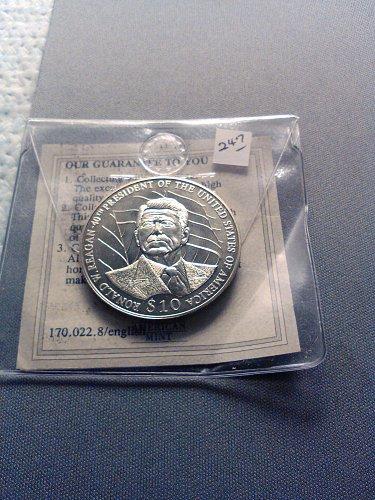 2003 LIBERIA $10 RONALD REAGAN COIN