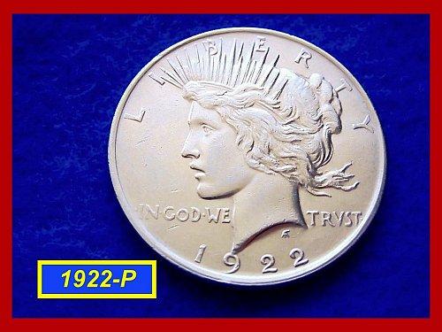 1922-P PEACE DOLLAR •••AU-50  Condition   • • • •   (#5231A)