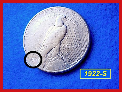 1922-S PEACE DOLLAR • • • Circulated  Condition      (#5111a)