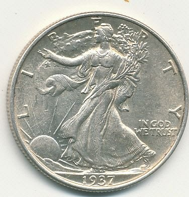Very nice BU Walking Liberty Half dollar