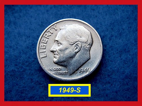 1949-S Roosevelt Dime ••• Circulated  •••   (#3371)