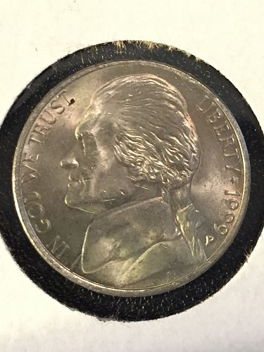 1999 P Jefferson Nickel