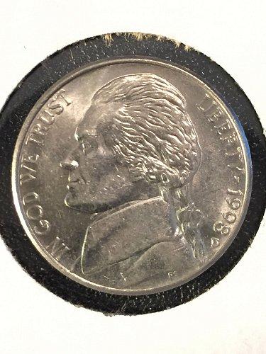 1998 D Jefferson Nickel