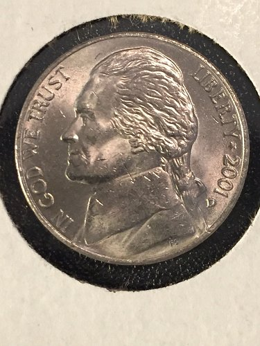2001 D Jefferson Nickel