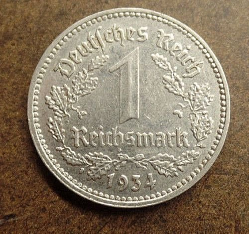 GERMANY 1934 A 1 MARK # 750