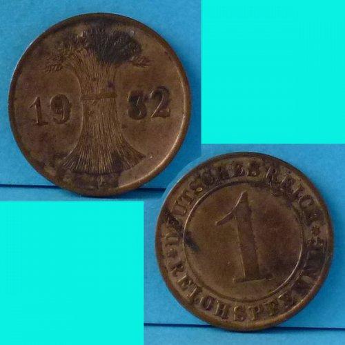 Germany Weimar 1 Pfennig 1932A km 37