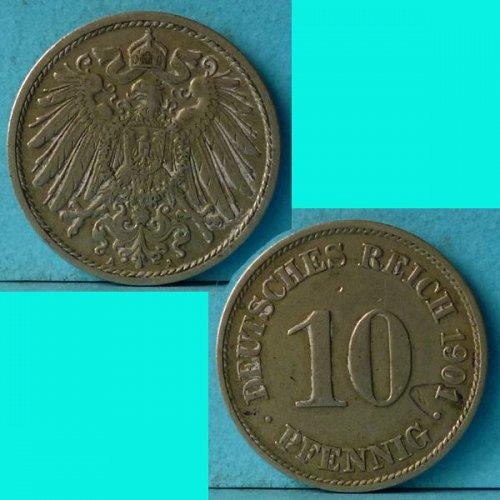 Germany Empire 10 Pfennig 1901 A km 12