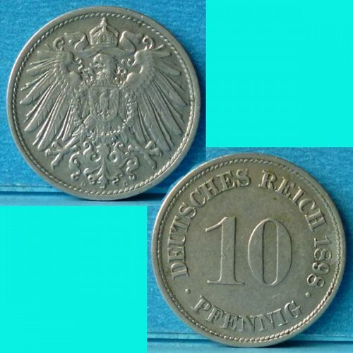 Germany Empire 10 Pfennig 1898 D km 12