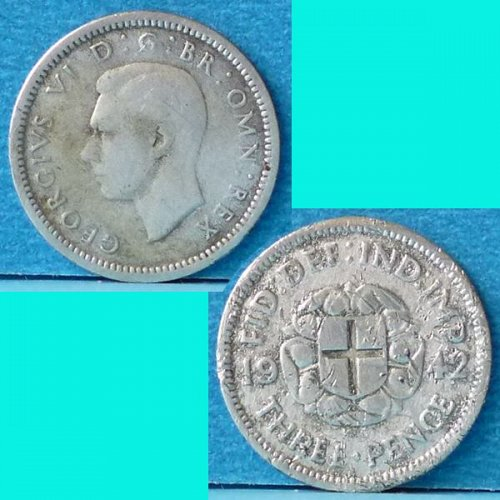 UK Great Britain 3 Pence dated 1942 km 848 Silver