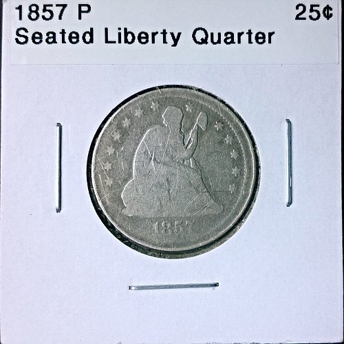 1857 P Seated Liberty Quarter