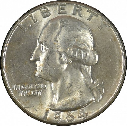 1964 D Washington Quarter, (Item 329)