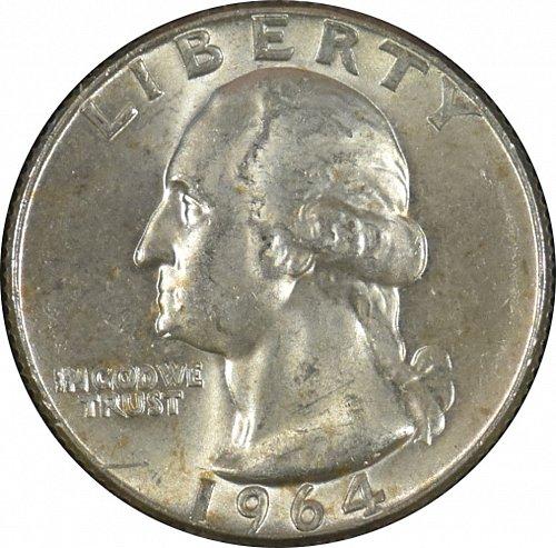 1964 D Washington Quarter, (Item 329)