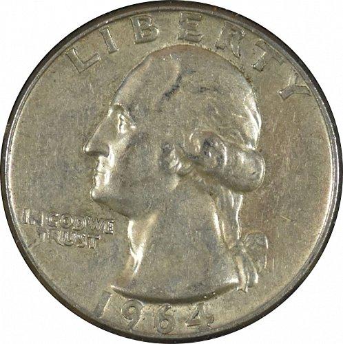 1964 D Washington Quarter,  (Item 331)