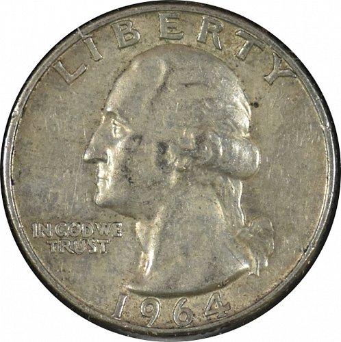 1964 D Washington Quarter, (Item 333)