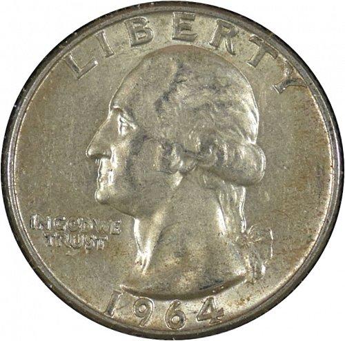 1964 D Washington Quarter,  (Item 334)