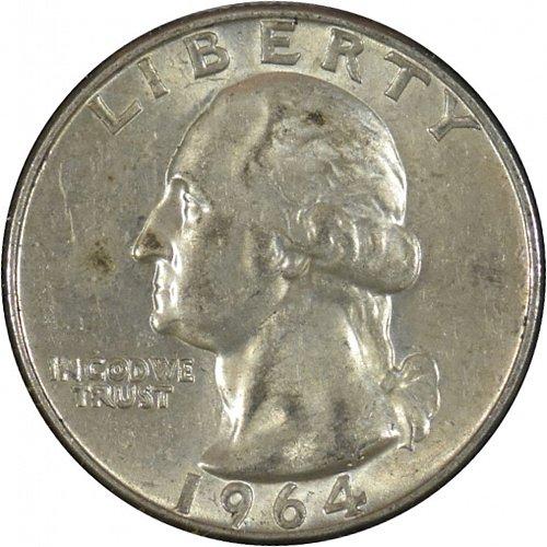 1964 D Washington Quarter, (Item 337)