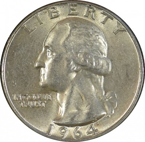 1964 D Washington Quarter,  (Item 338)