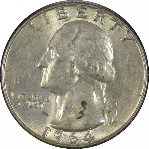 1964 D Washington Quarter, (Item 341)