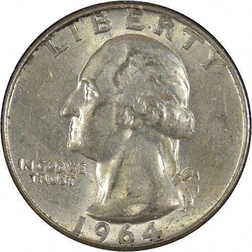 1964 D Washington Quarter, (Item 342)