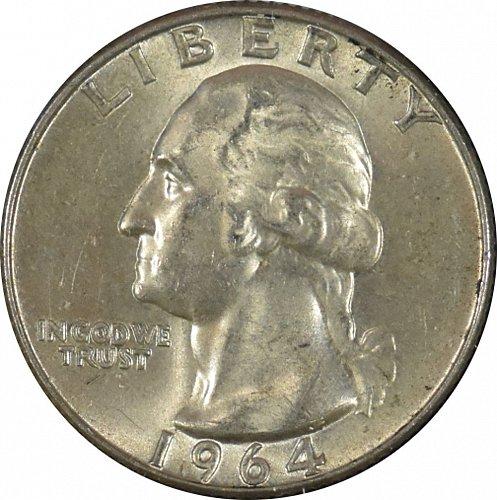 1964 D Washington Quarter, (Item 343)
